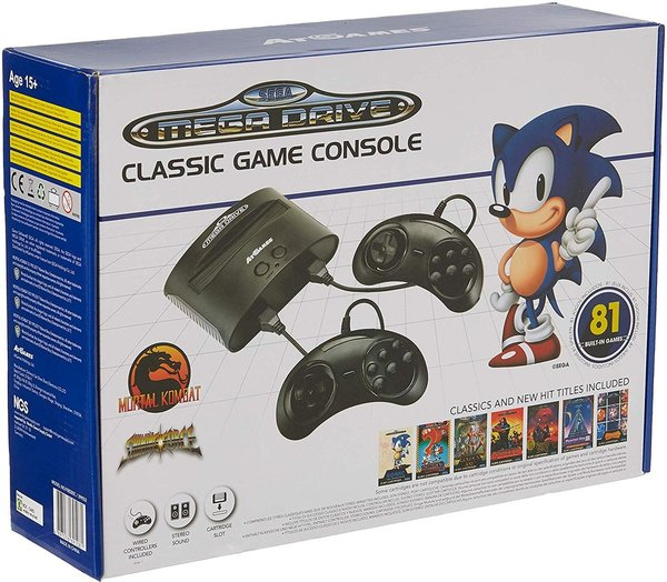 Console Retro Sega Megadrive + 81 jeux - édition 2017-2018 de AT Games