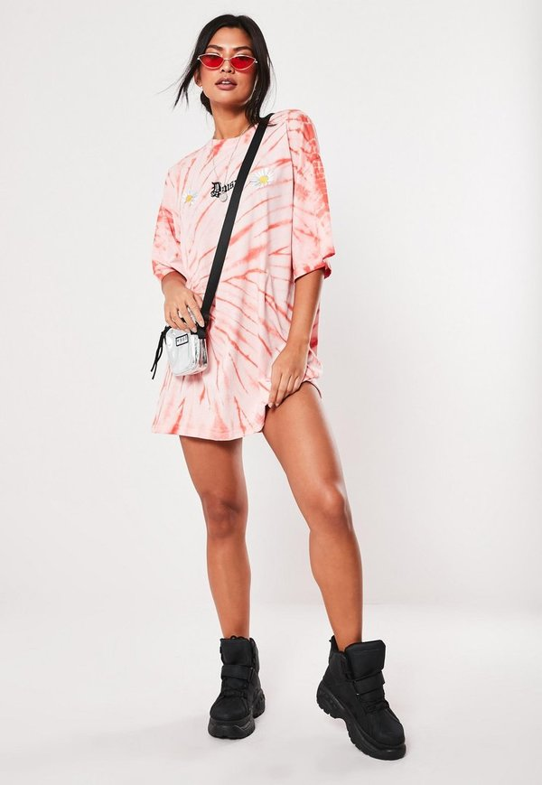 robe t-shirt rose oversize