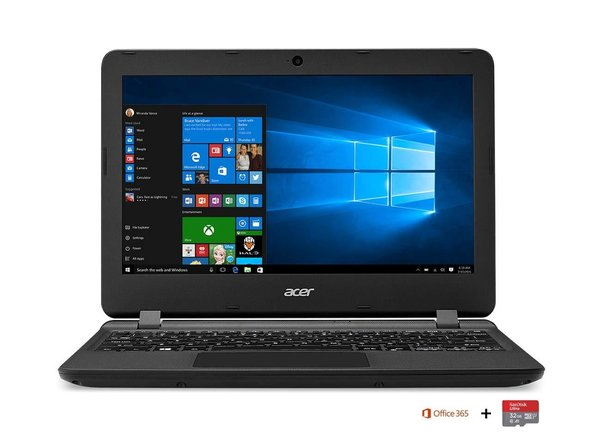 "Acer Aspire ES1-132-C7UM PC Portable 11,6"" HD Noir (Intel Celeron, 2 Go de RAM, SSD 32 Go, Intel HD"