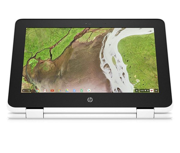 HP Chromebook x360 11-ae105nf Blanc neige (Intel Celeron, 4 Go de RAM, HD 500, Chrome OS)