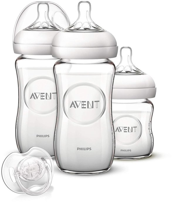 Philips Avent SCD291/02 Kit Biberon Natural en Verre de Philips